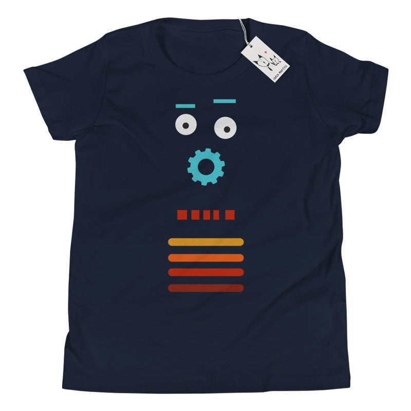 Carla Martell | Retro Robot Youth Tee | Black