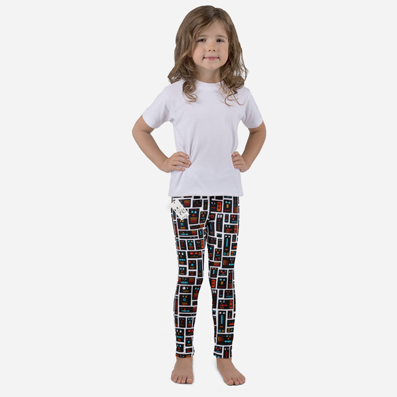 Carla Martell | Robot Friends Kids Leggings front view