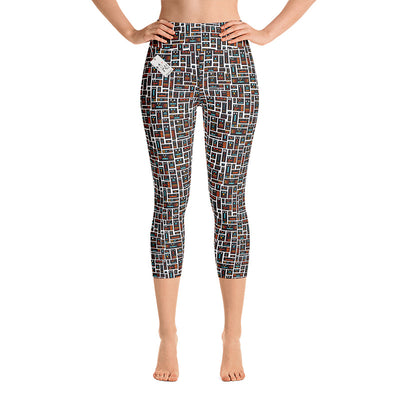 Carla Martell | Robot Friends Yoga Capri Leggings