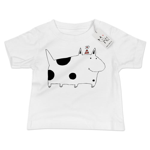 Carla Martell | Silly Spotted Dog Baby T Shirt