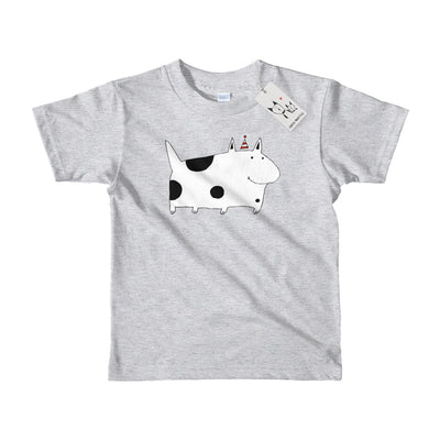 Carla Martell | Silly Spotted Dog Kids Tee | Heather Grey