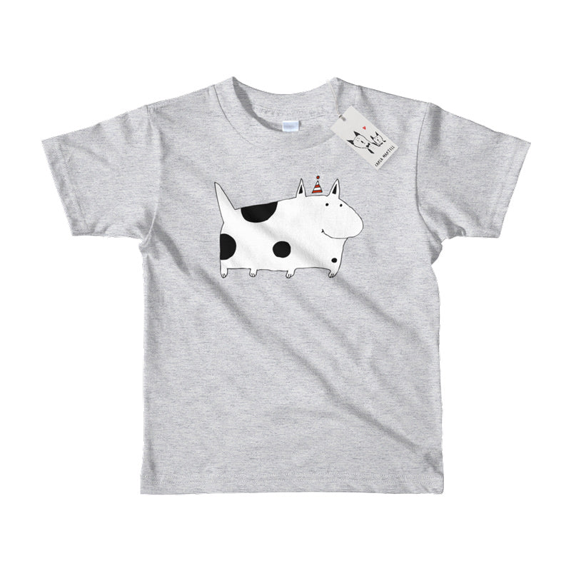 Carla Martell | Silly Spotted Dog Kids Tee | Red
