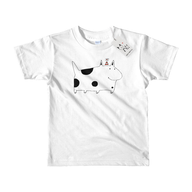 Carla Martell | Silly Spotted Dog Kids Tee | White