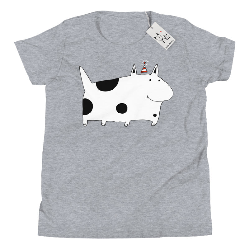Carla Martell | Silly Spotted Dog Youth T Shirt | Blue