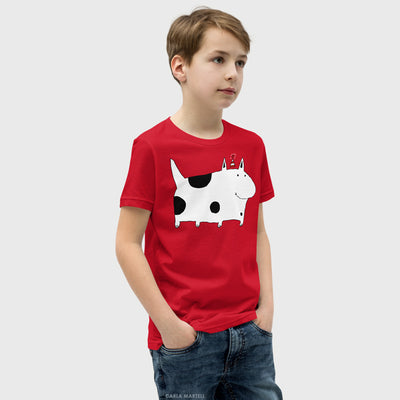 Silly Spotted Dog Youth T Shirt | Carla Martell
