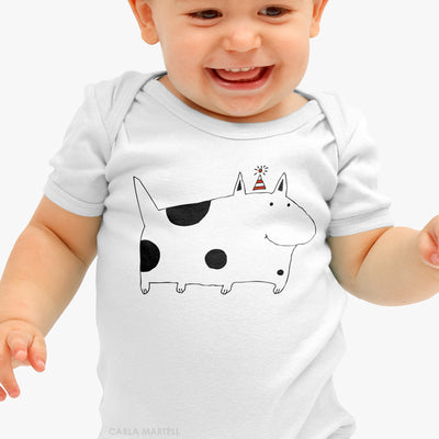 Silly Spotted Dog Baby Bodysuit | Carla Martell
