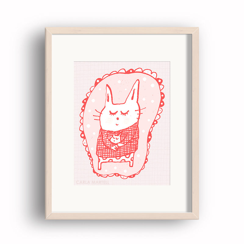 Carla Martell| Sleepy Cats Art Print for Kids