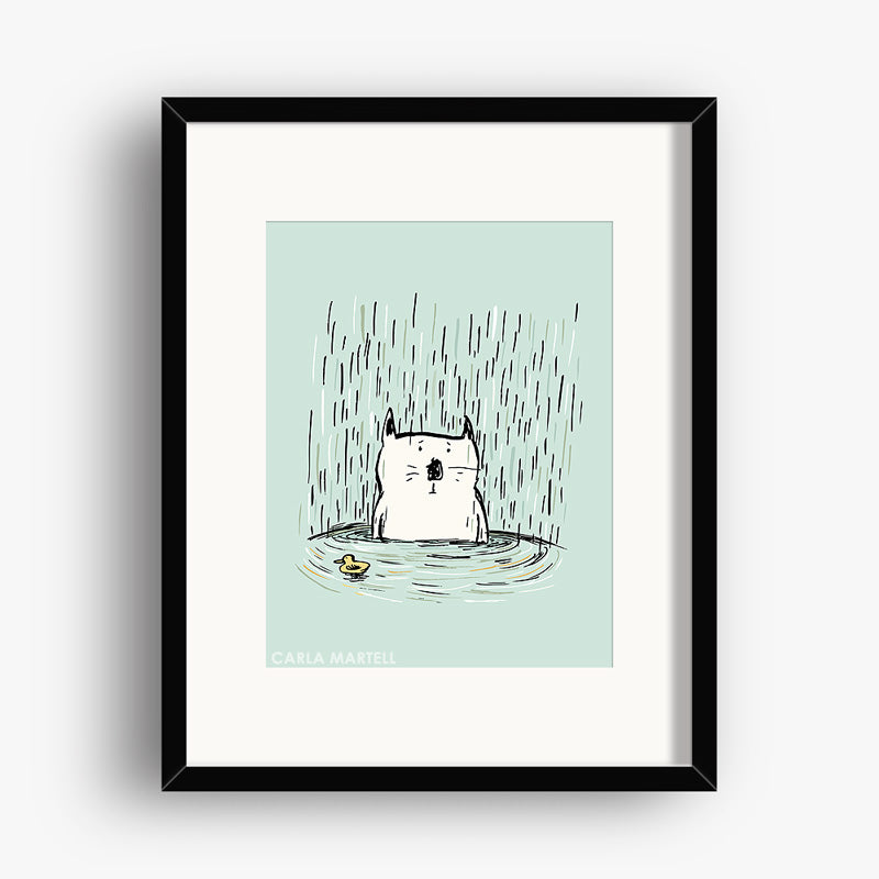 Soggy Cat Art Print | Carla Martell