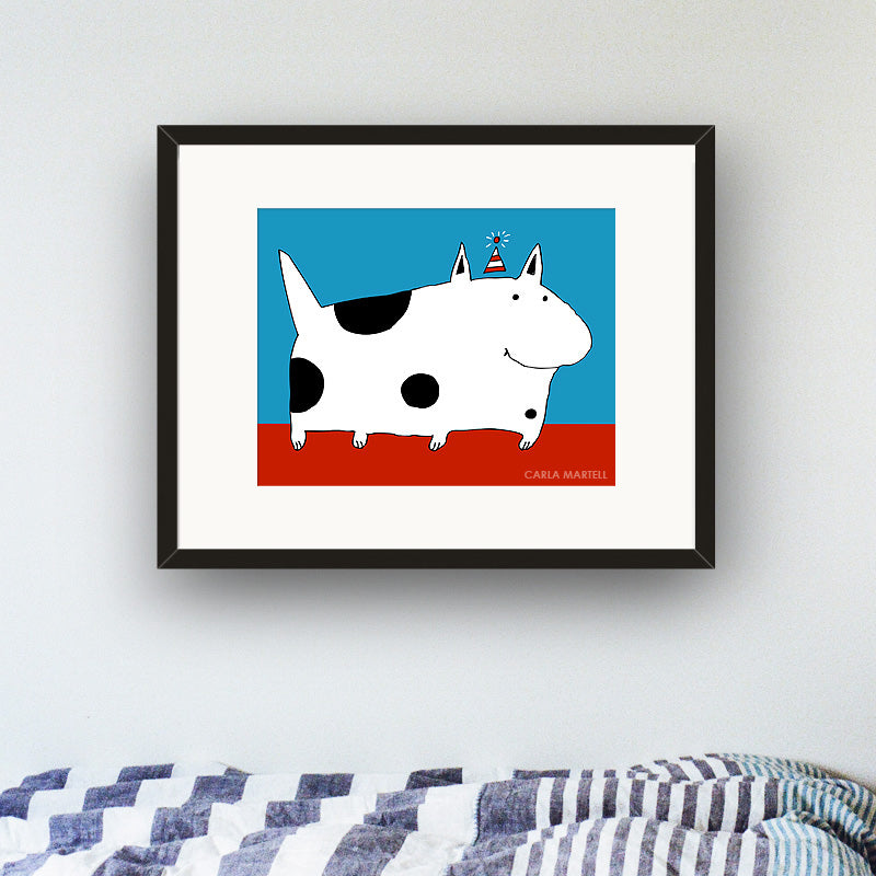 Carla Martell | Silly Spotted Dog Kid's Print