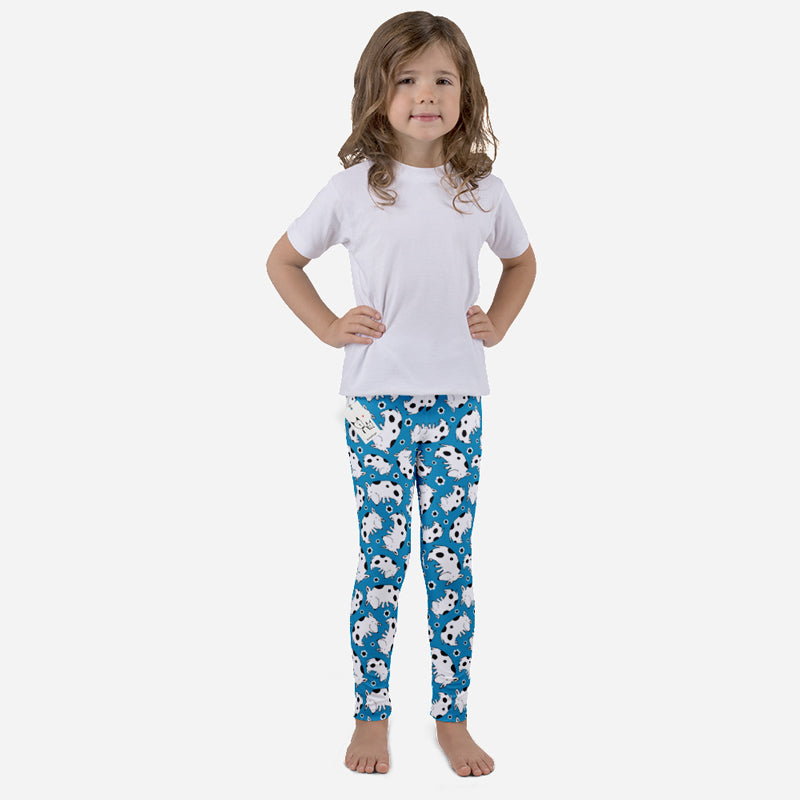 Carla Martell | Silly Spotted Dog Kids Leggings front view