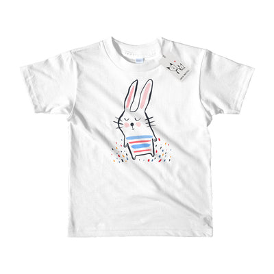 Carla Martell | Sleepy Bunny Kids T Shirt | White