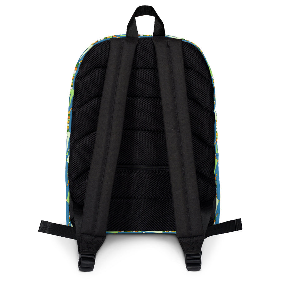 Carla Martell | Mr Stripy Crocodile Kids Backpack back view