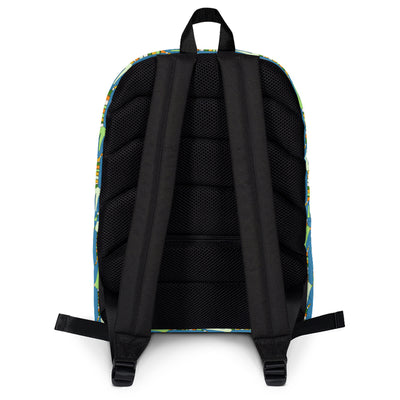 Scruffcat | Mr Stripy Crocodile Kids Backpack back view