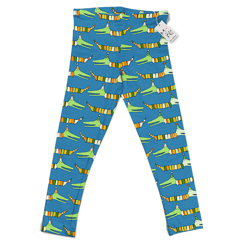 Carla Martell | Mr Stripy Crocodile Kids Leggings