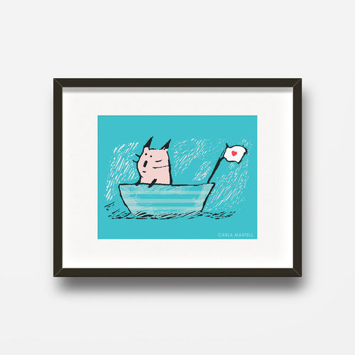 Sweet Sailor Cat Art Print | Carla Martell