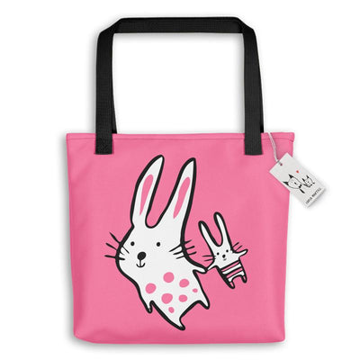Carla Martell | Big Bunny, Little Bunny Tote Bag | Pink