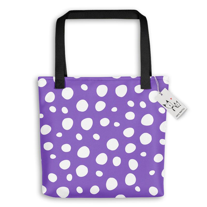 Carla Martell | Bunny Bag with Spots  | Purple