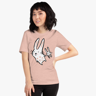 Big Bunny, Little Bunny T Shirt on model | Carla Martell