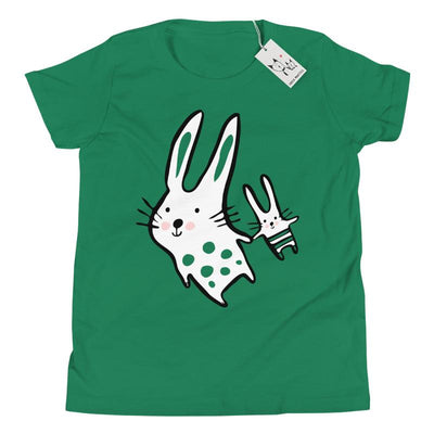 Carla Martell | Big Bunny, Little Bunny Youth Tee | Green