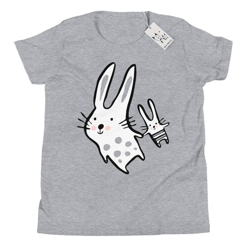 Carla Martell | Big Bunny, Little Bunny Youth Tee | Heather