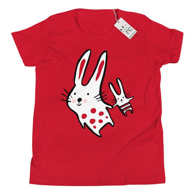 Carla Martell | Big Bunny, Little Bunny Youth Tee | Red