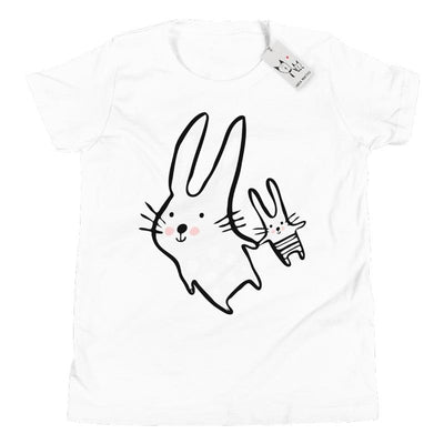 Carla Martell | Big Bunny, Little Bunny Youth Tee | White