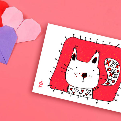 Printable Valentine's Day Cat Card | Carla Martell
