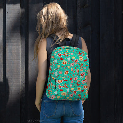 Wild Flowers Backpack on model | Scruffcat