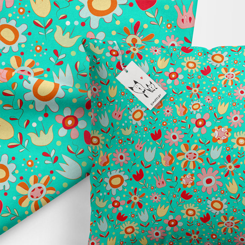 Scruffcat | Wild Flowers Kids Pillow