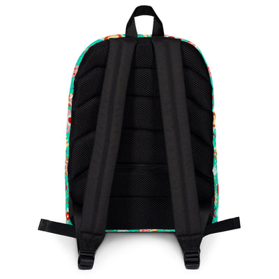 Scruffcat | Wild Flowers Kids Backpack back view