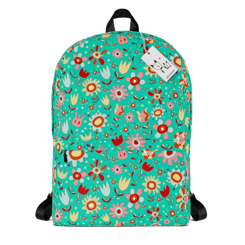 Scruffcat | Wild Flowers Kids Backpack