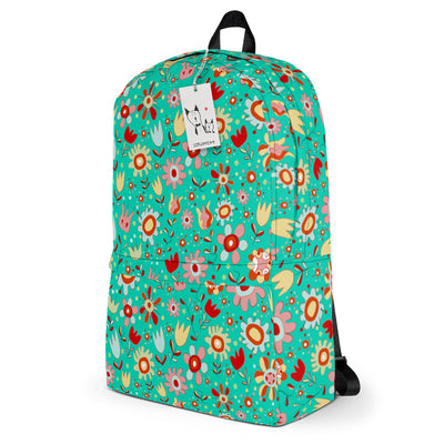 Scruffcat | Wild Flowers Kids Backpack side view