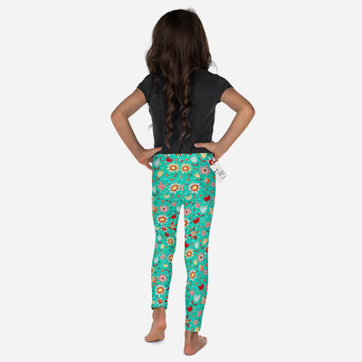 Scruffcat | Wild Flowers Kids Leggings back view