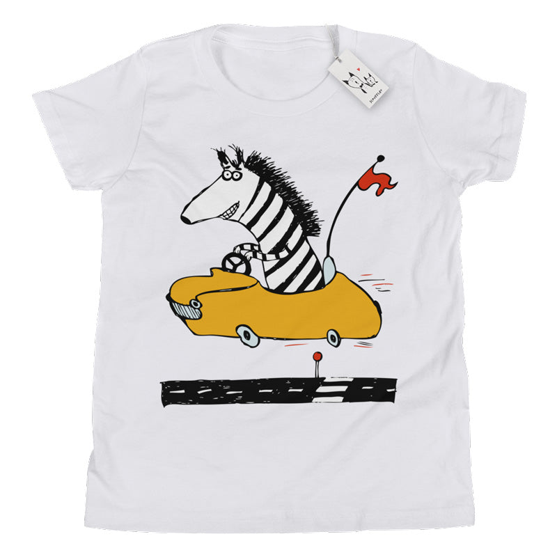 Scruffcat | Zippy Zebra Youth T Shirt