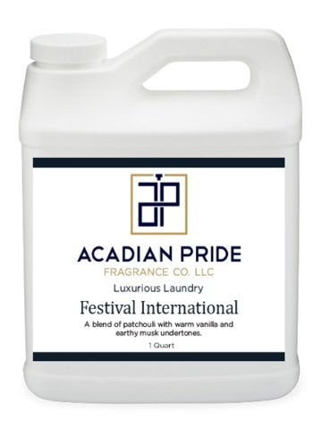 ACADIAN PRIDE FRAGRANCE - 1 QUART LUXURIOUS WASH - FESTIVAL INTERNATIONAL(With BONUS PEARSONS STAIN REMOVER PEN)