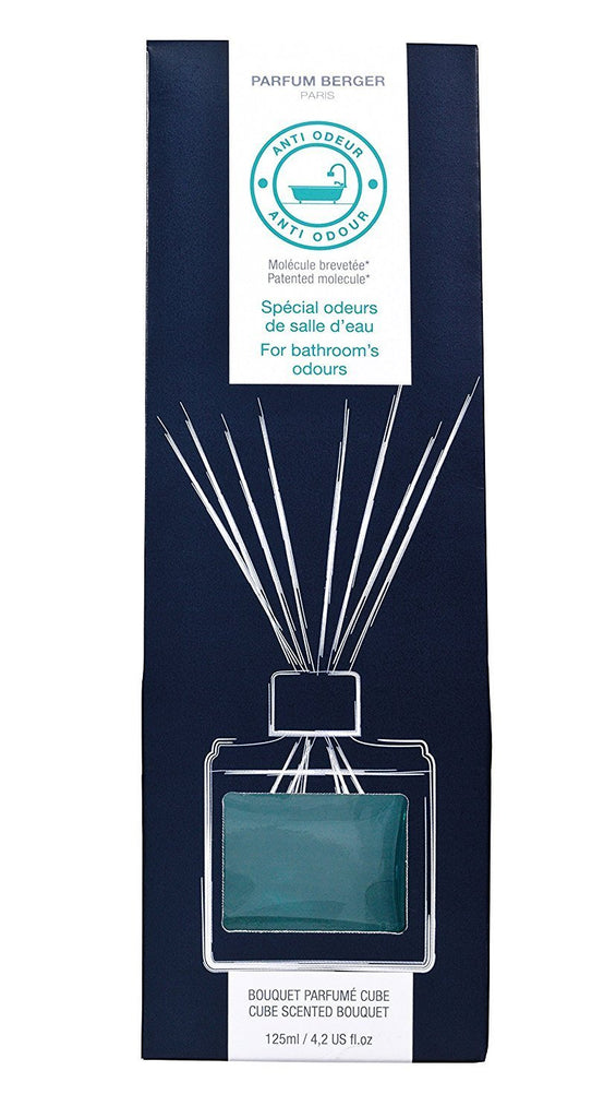 Parfum Berger - Anti Odor Reed Diffuser Cube Set -  Bathroom, 402 Ounce