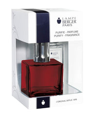 Lampe Berger Cube Red Lamp Gift Set includes Ocean Breeze 6.08 Fl.oz. - 113704