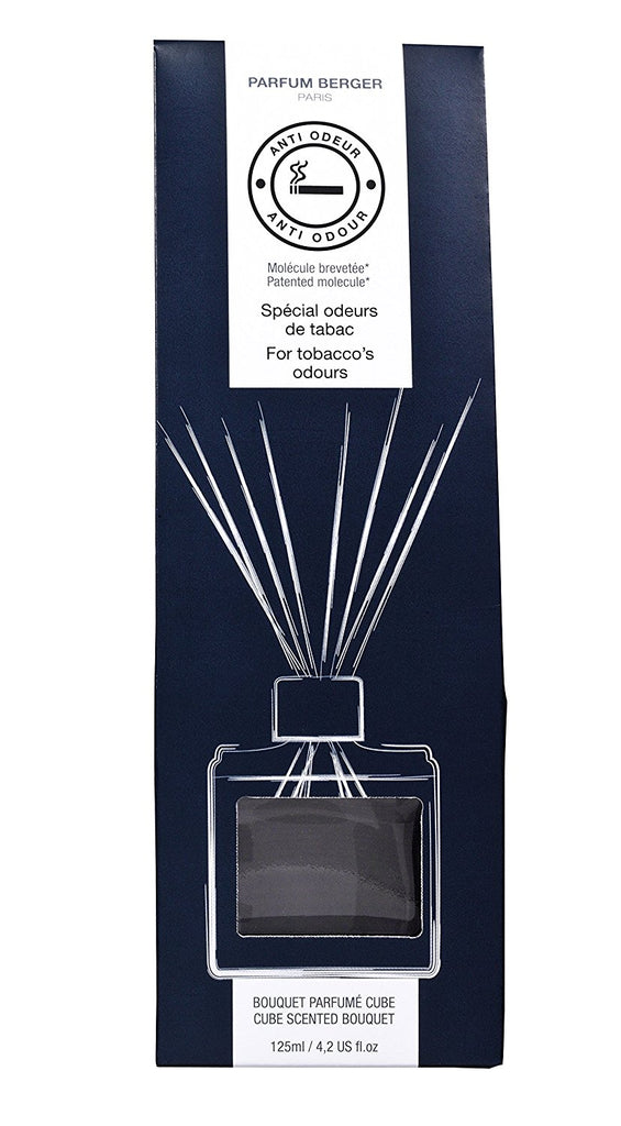 Parfum Berger - Anti Odor Reed Diffuser Cube Set - Tobacco, 402 Ounce