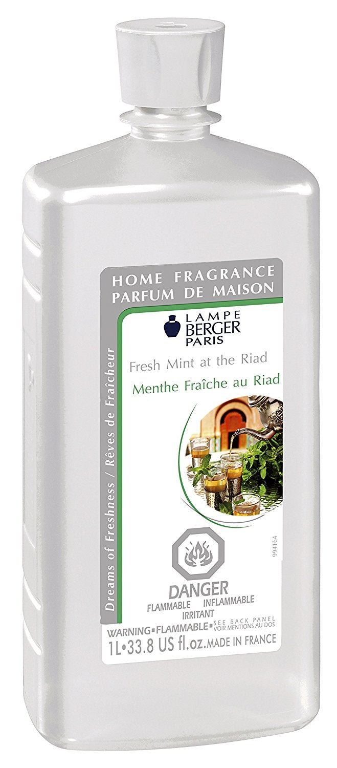 Lampe Berger Fragrance - 1L / 33.8 Fluid Ounce - Fresh Mint at the Riad