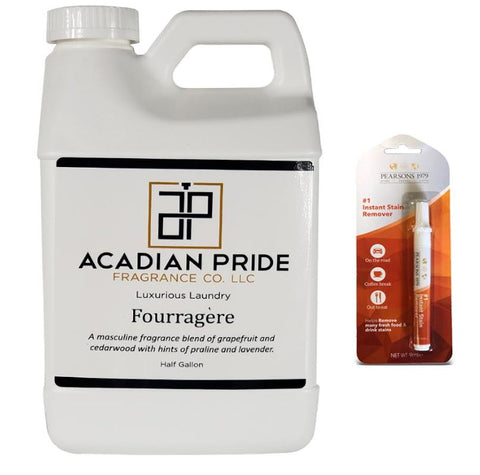 Acadian Pride Luxurious Wash-64oz/Half Gallon - (Fourragere) - (Bundled with Pearsons Stain Remover)