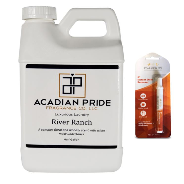 Acadian Pride Luxurious Wash -64oz/Half Gallon - (River Ranch) - (Bundled with Pearsons Stain Remover)