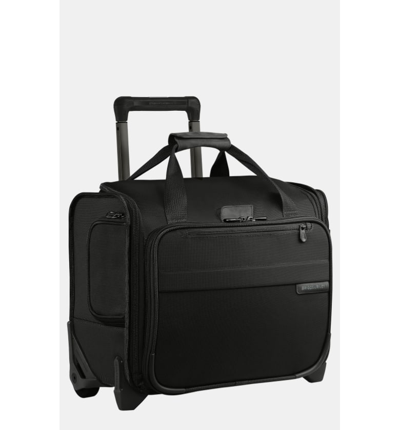 BASELINE COLLECTION - TWO WHEEL ROLLING CABIN BAG - BLACK