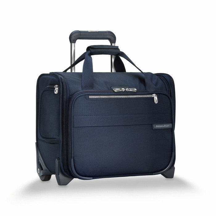 BASELINE COLLECTION - TWO WHEEL ROLLING CABIN BAG - NAVY