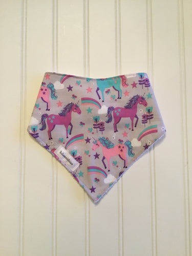 Unicorns & Rainbows Bandana Drool Bib