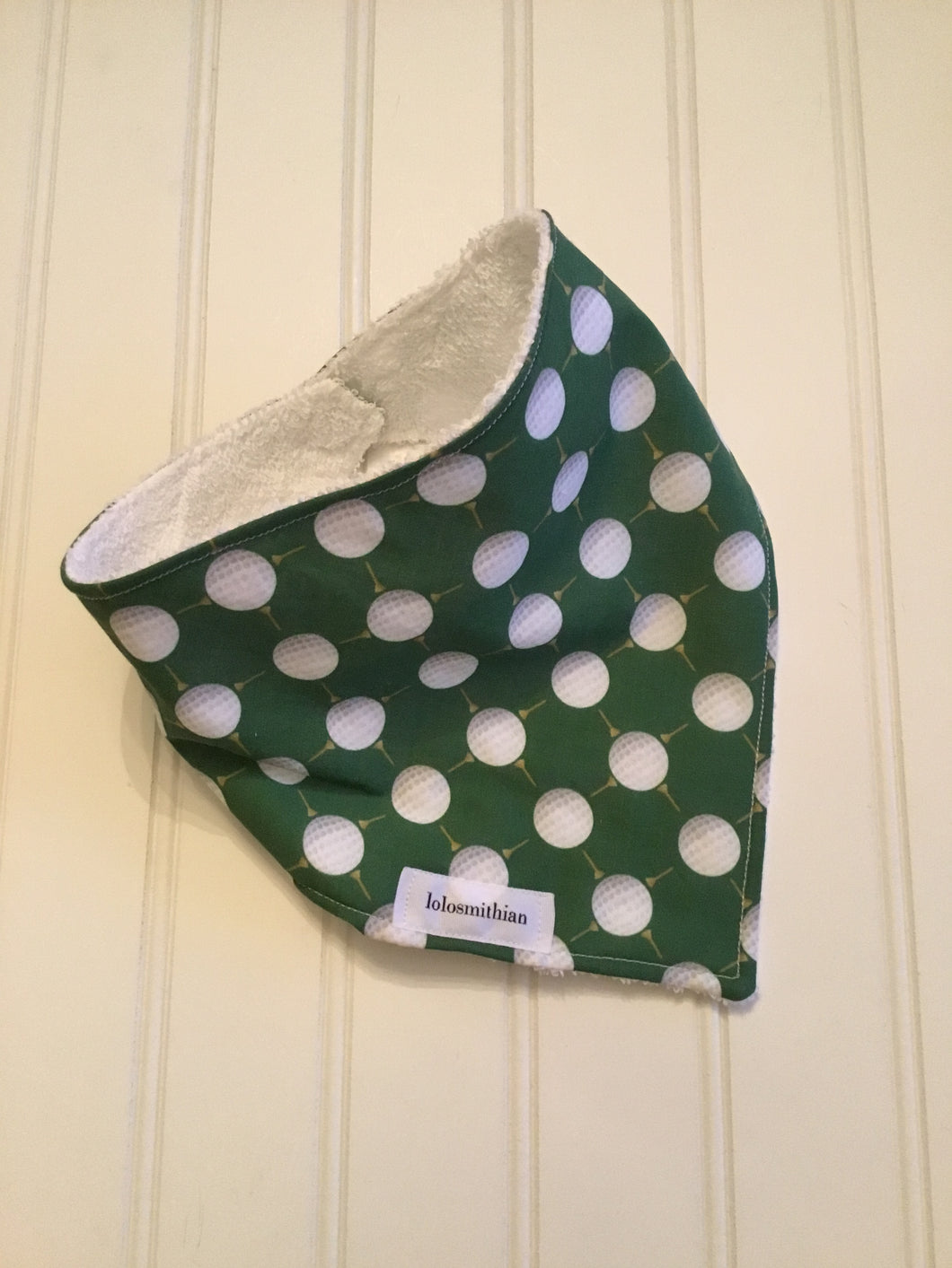 Green Golf Bandana-Drool Bib