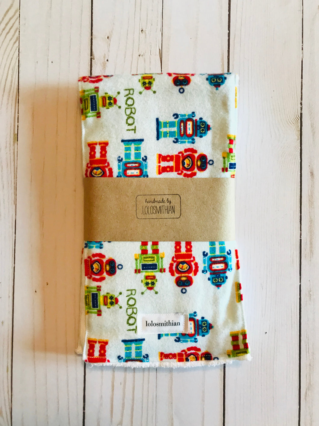 Robot Burp Cloth