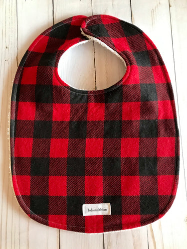 Red Buffalo Plaid Bib