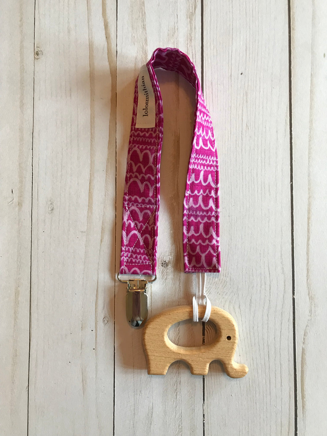 Burgundy Pacifier Clip