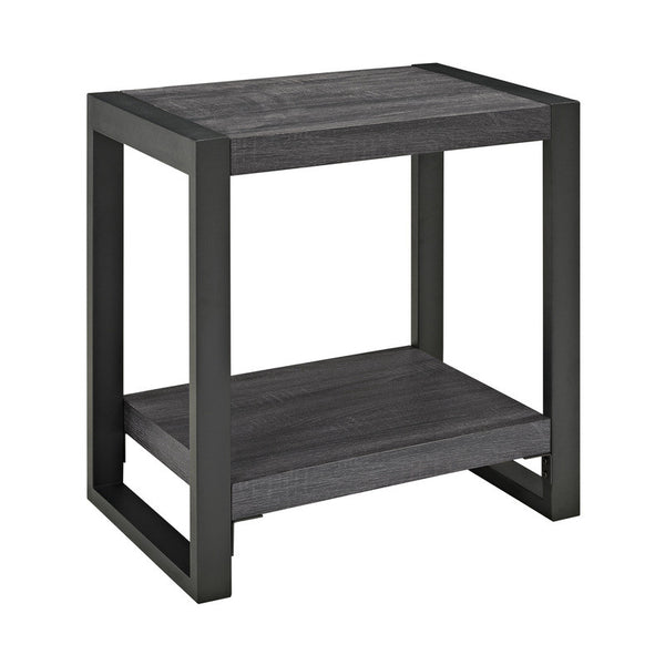 "angelo:HOME City Grove 24"" Side Table in Charcoal - angelo:HOME"