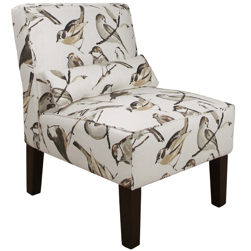 Armless Chair in Birdwatcher Charcoal
